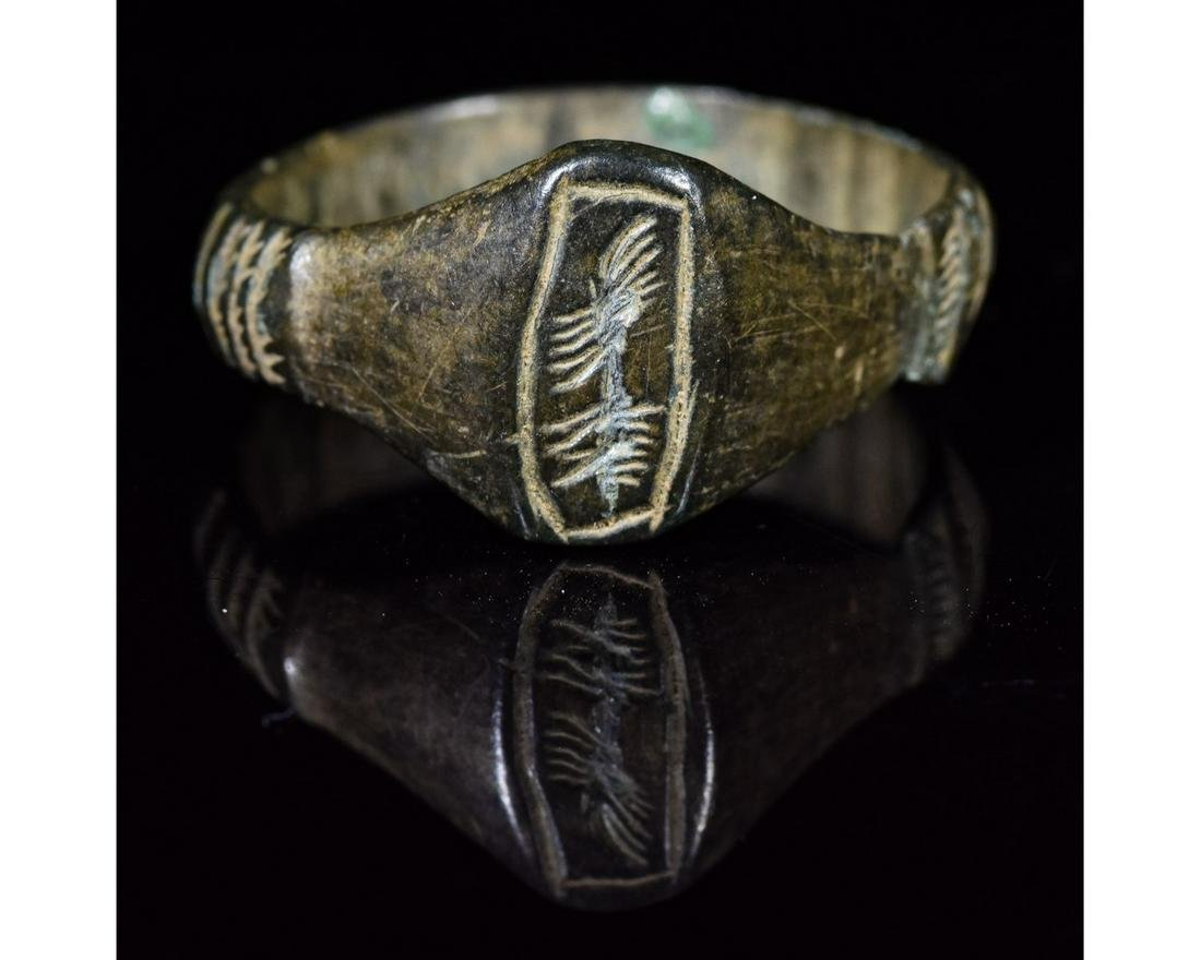 VIKING BRONZE RING WITH BEAST