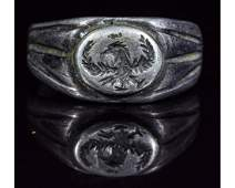 ROMAN SILVER LEGIONARY RING WITH EAGLE