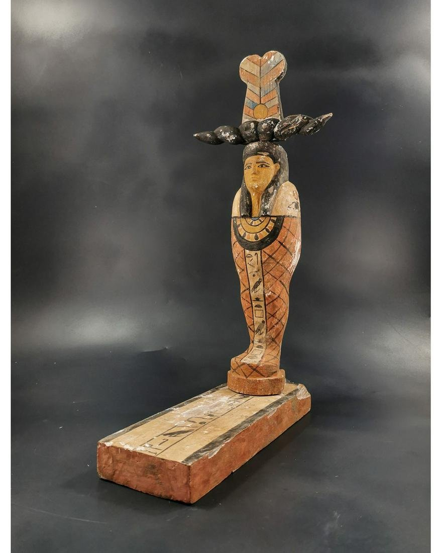 EGYPTIAN WOOD STATUE OF GOD PTAH