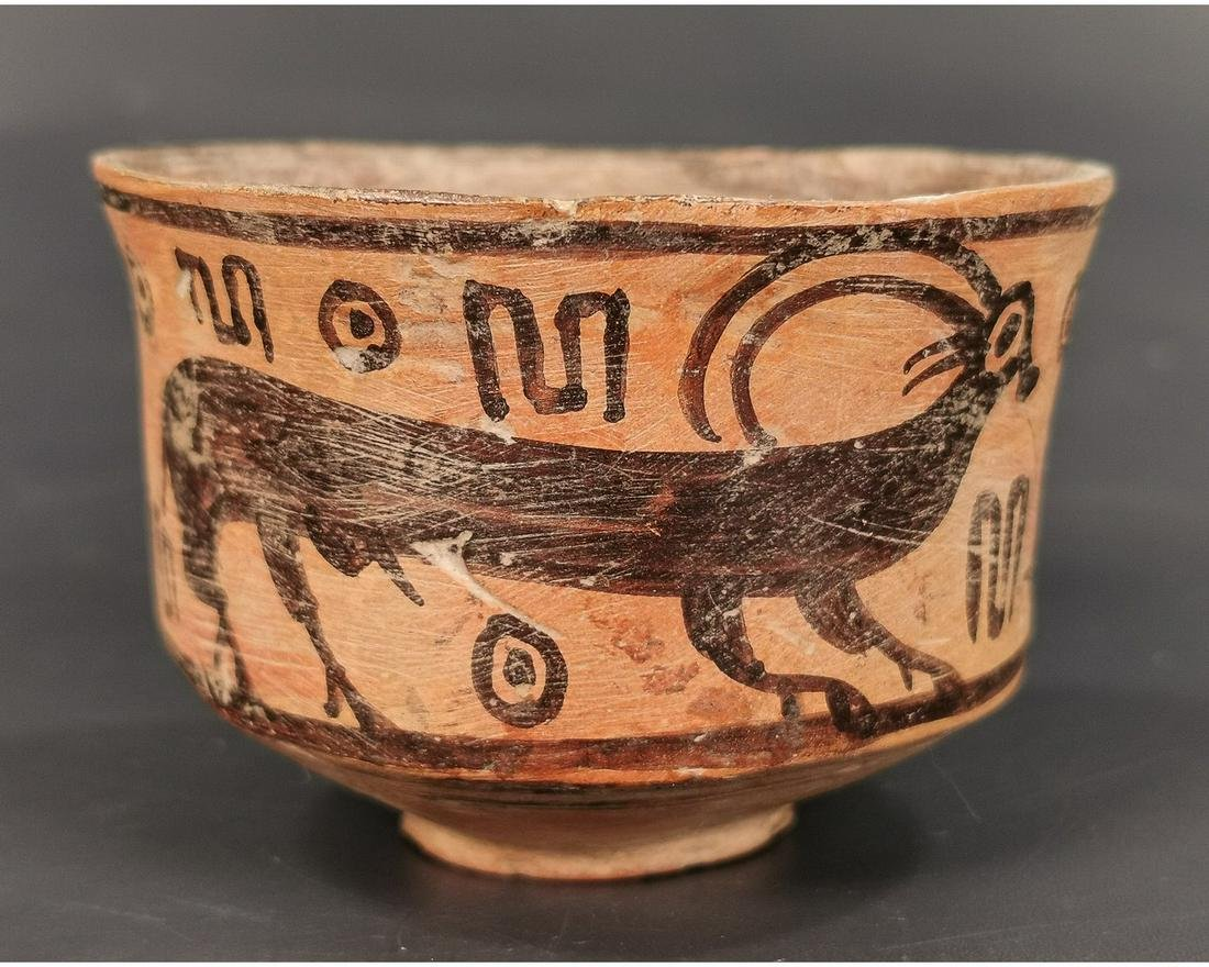 INDUS VALLEY CULTURE VESSEL WITH RUNNING IBEX