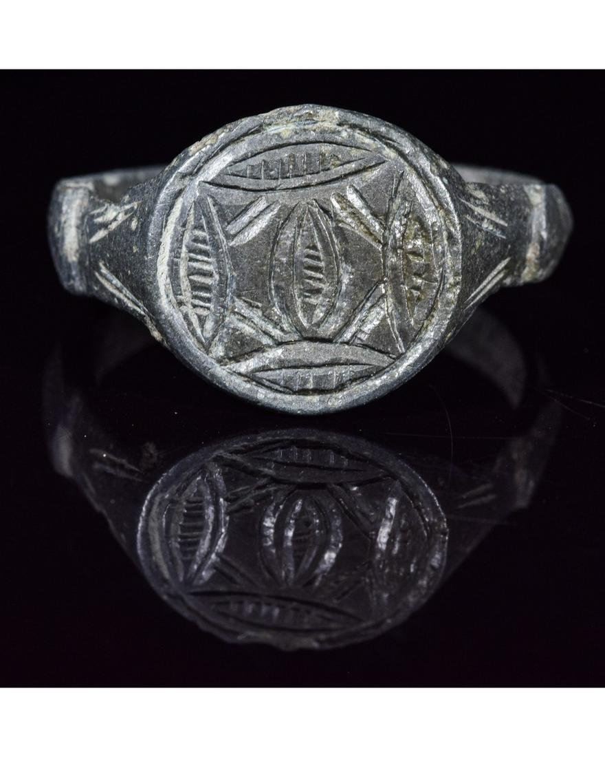CRUSADERS PERIOD RING WITH STAR OF BETHLEHEM AND EYE OF