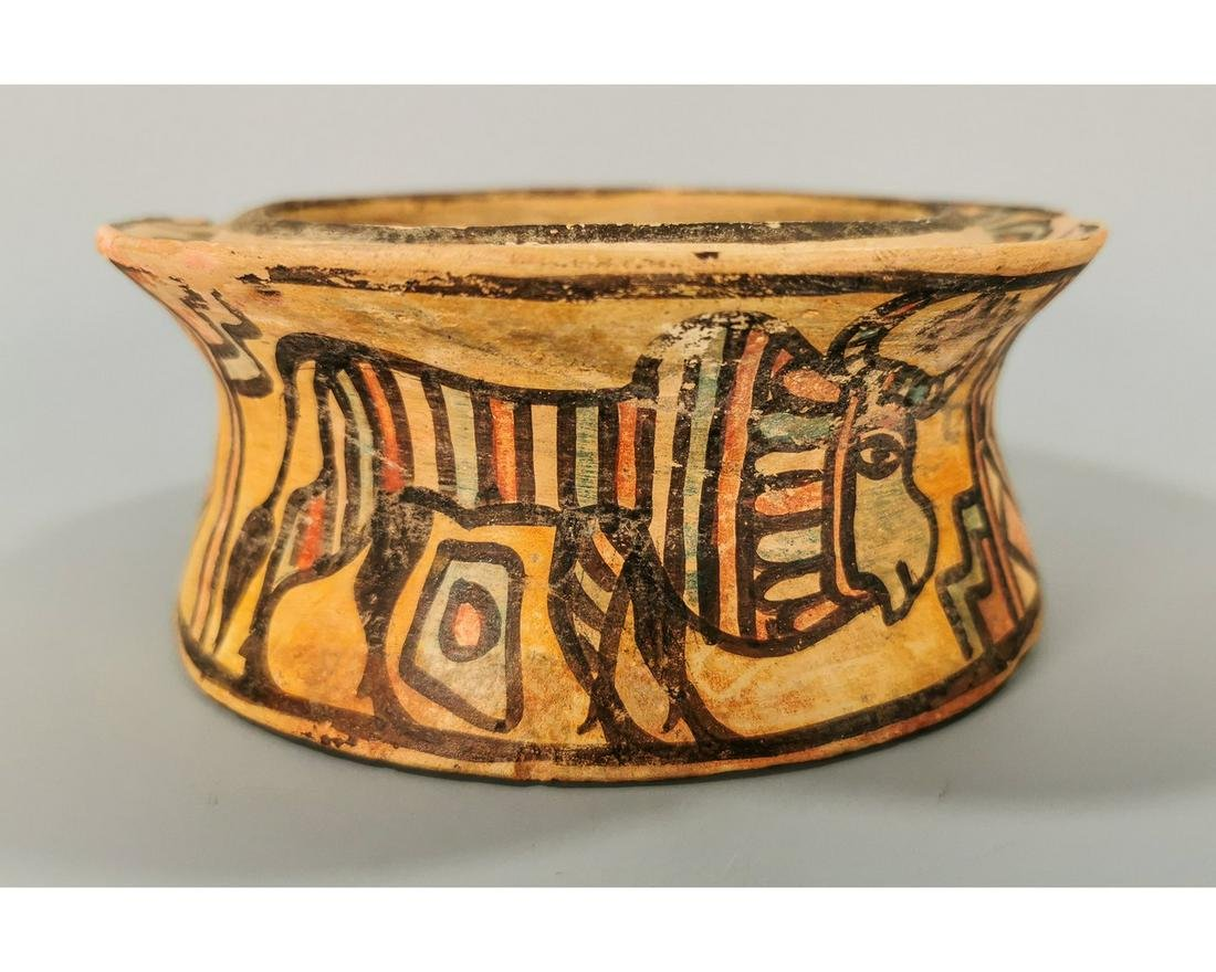 INDUS VALLEY CULTURE VESSEL WITH ZEBU BULL