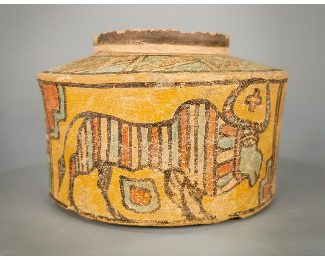 INDUS VALLEY CULTURE VESSEL WITH ZEBU BULLS MOTIFS