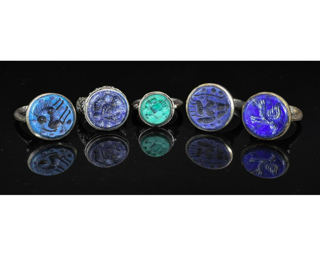 COLLECTION OF MIDDLE EASTERN TRIBAL INTAGLIO RINGS