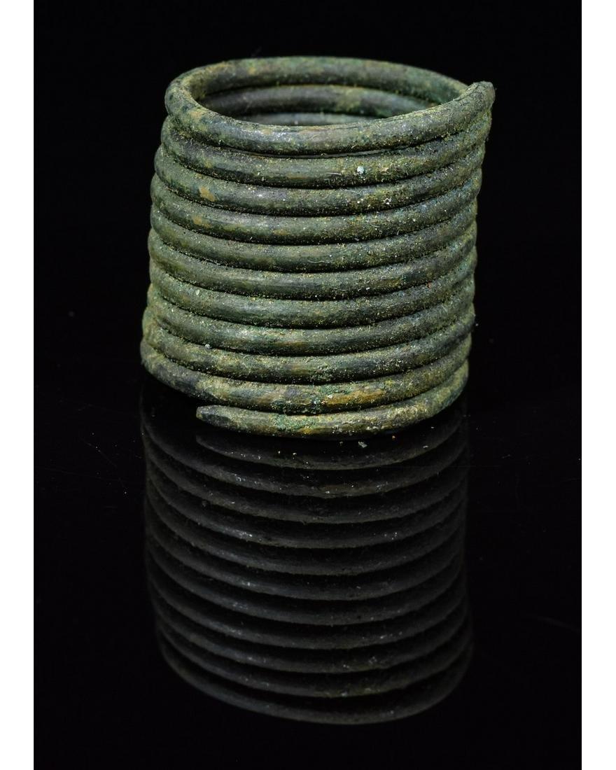 VIKING COILED BRONZE RING