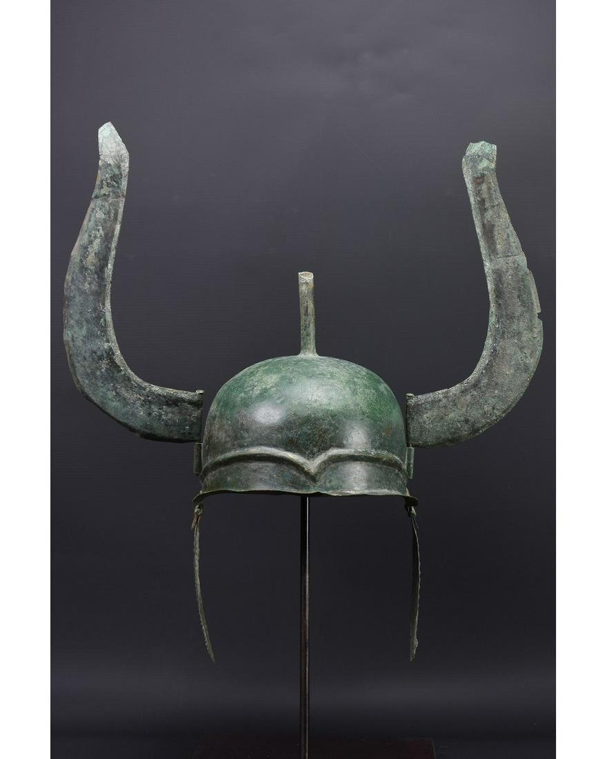 GREEK BRONZE WINGED HELMET - ex. AXEL GUTTMANN