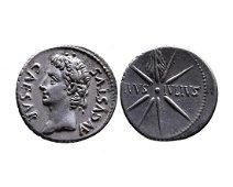 Ancient Roman Imperial AR denarius Augustus