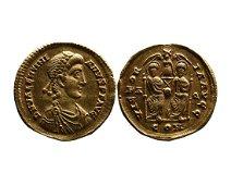 Ancient Roman Imperial AV solidus Valentinianus II