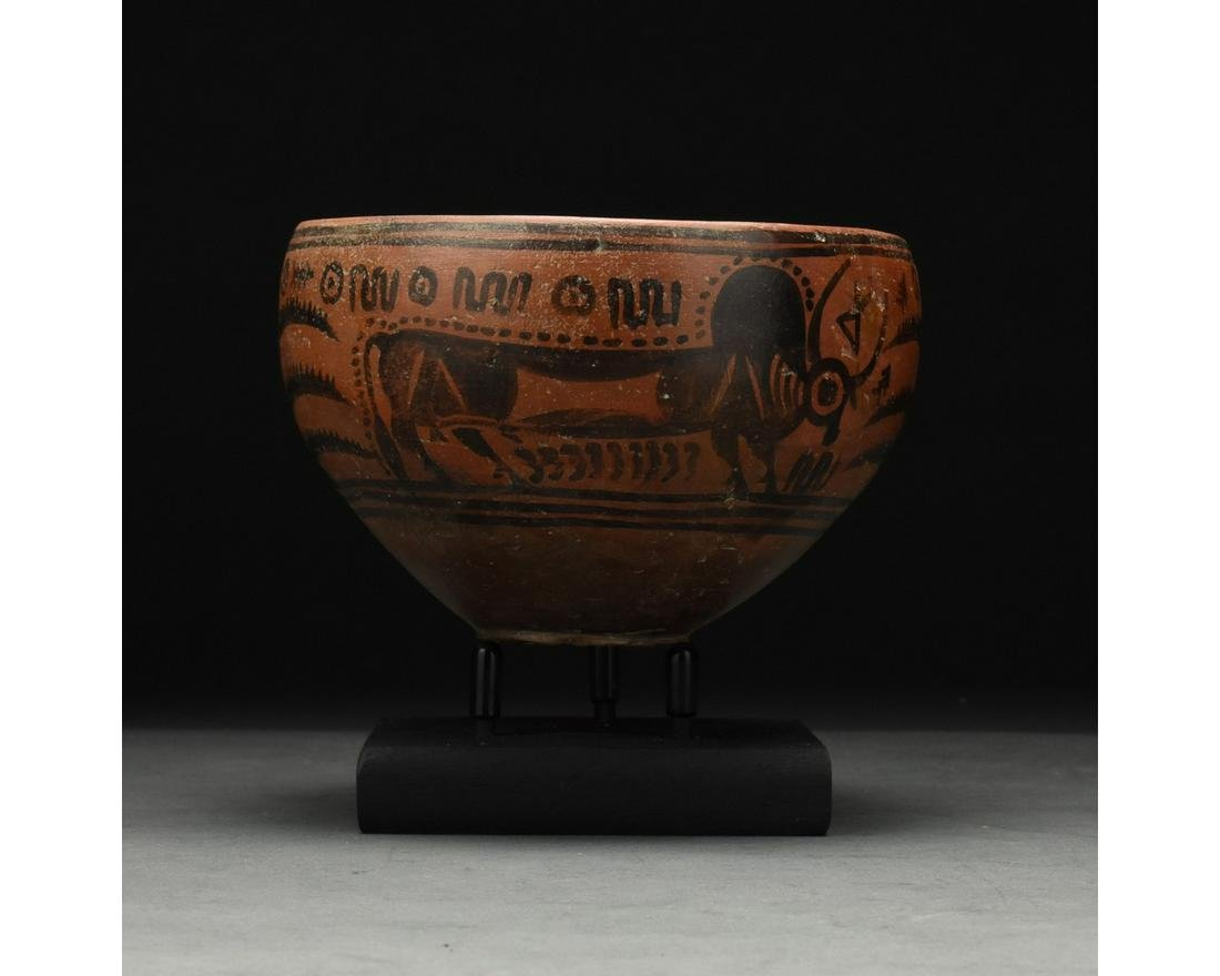INDUS VALLEY PAINTED VESSEL WITH BULLS