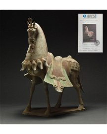 LARGE NORTHER WEI DYANSTY TERRACOTTA HORSE - TL TESTED