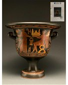 GREEK BLACK FIGURE WARE APPULIAN KRATER- TL TESTED