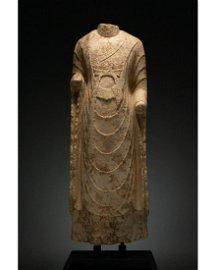 CHINA, NORTHERN QI DYNASTY STONE TORSO OF BUDDHA