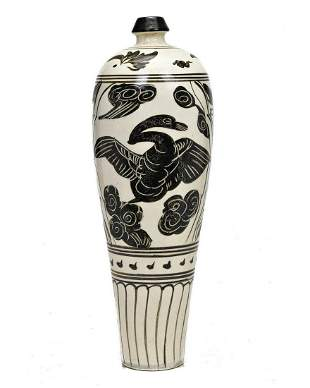 CHINESE SONG STYLE TALL PORCELAIN VASE