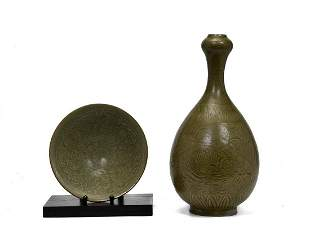 CHINESE SONG STYLE PORCELIAN BOWL AND VASE