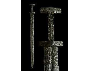 VIKING IRON SWORD WITH HANDLE