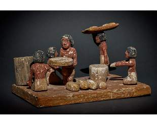 EGYPTIAN WOODEN TOMB MODEL OF A BAKERY