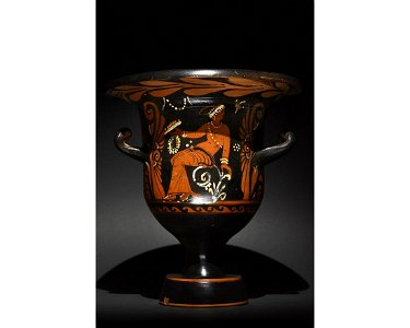 APULIAN RED-FIGURED TERRACOTTA BELL KRATER - TL TESTED