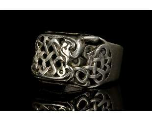 POST MEDIEVAL VIKING STYLE SILVER RING