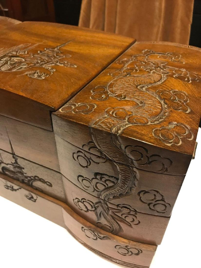 Wooden Carved Jewelry Box - 2
