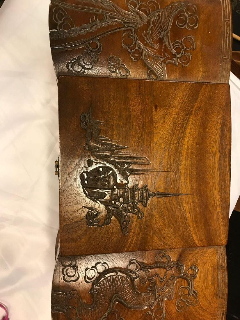 Wooden Carved Jewelry Box - 4