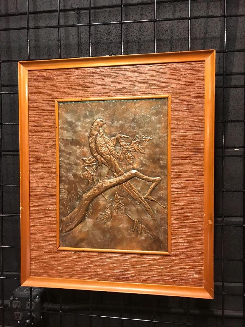 Prison Art, Hammered Metal of Bird in Tree