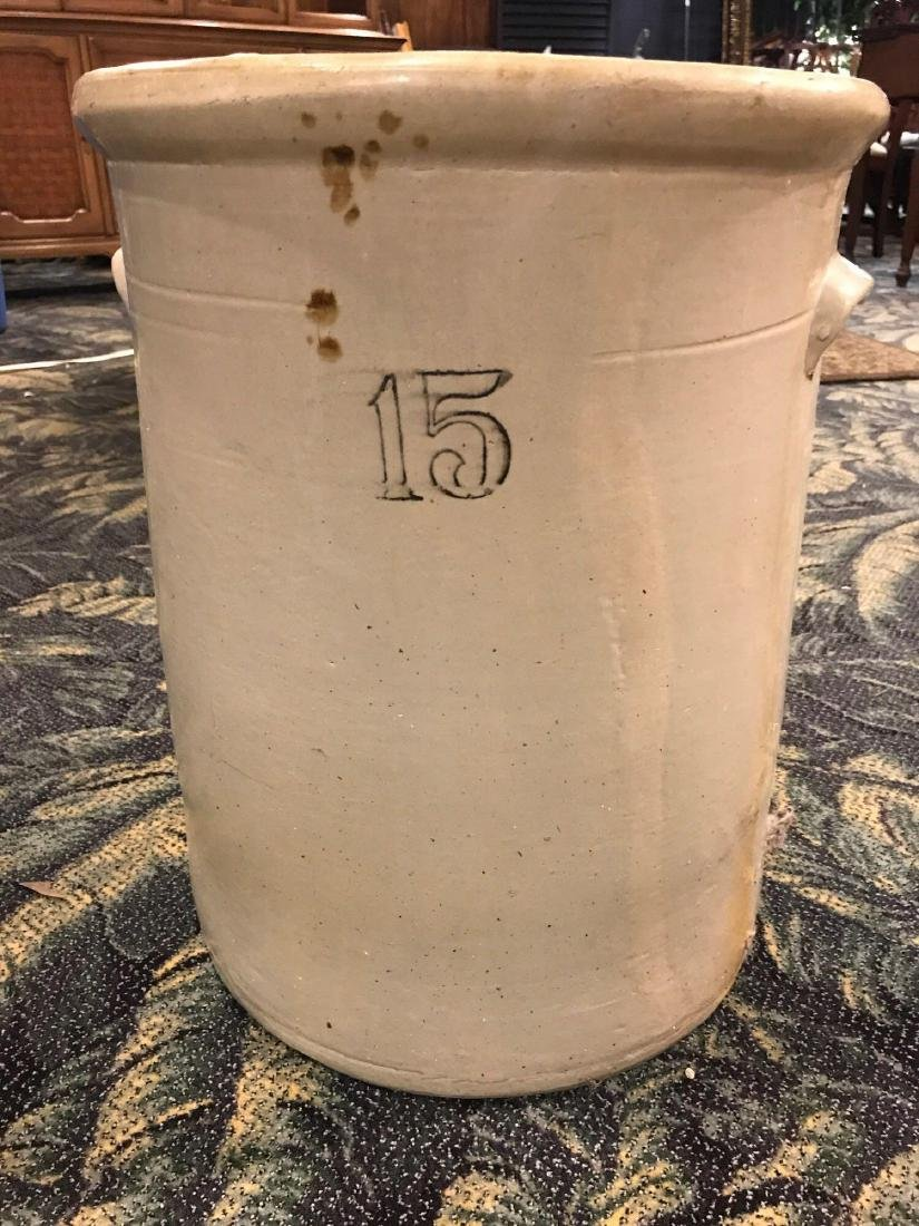 Antique 15 Gallon Pickling Crock Stoneware Pottery - 4