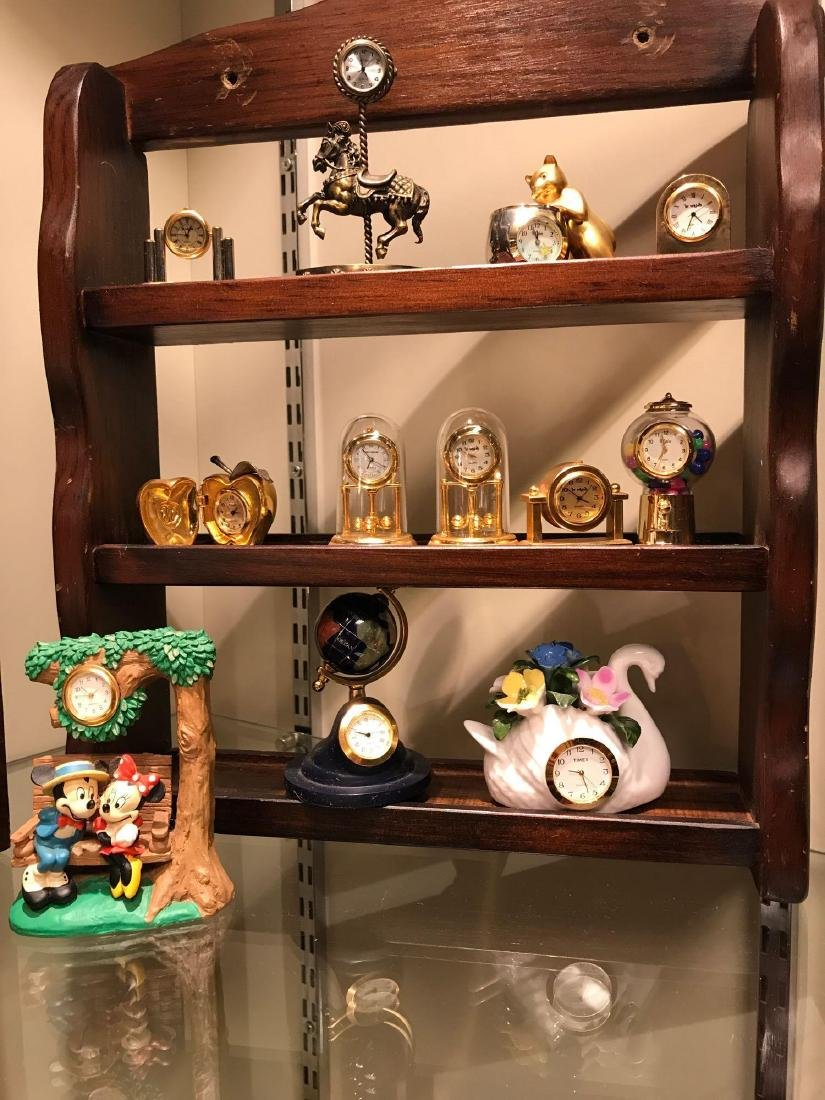 Collection of Desk and Miniature Clocks