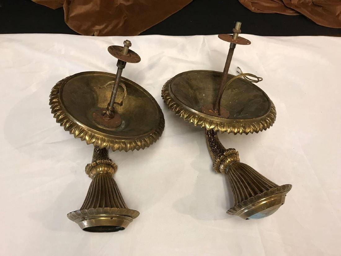 Solid Brass Victorian Sconces - 2
