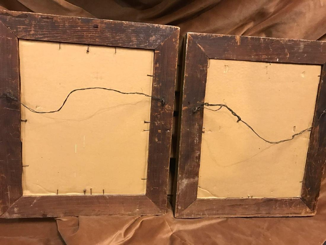 Set of Antique 19th Century Painted Full Plate Tintype - 2