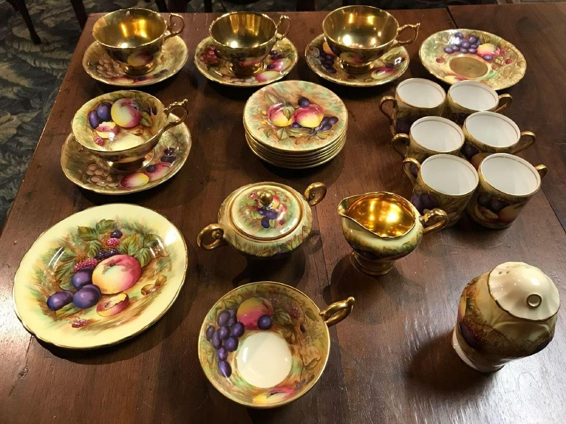 Collection of Aynsley Vintage Orchard Gold Gilded China