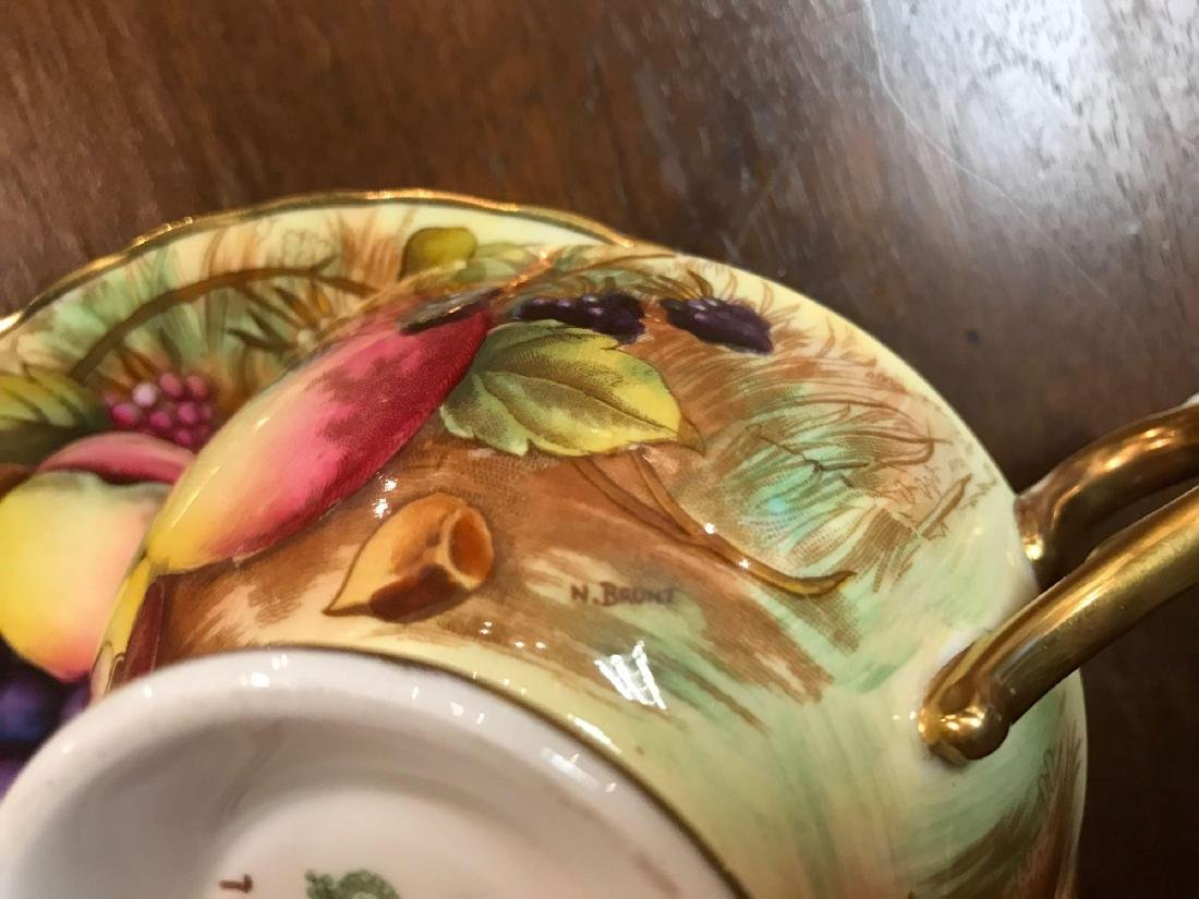 Collection of Aynsley Vintage Orchard Gold Gilded China - 4