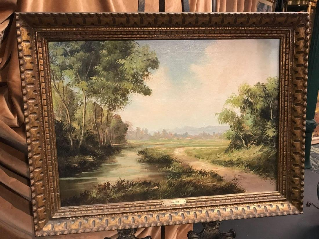 Vintage Oil Painting Signed by G. Aliprandi