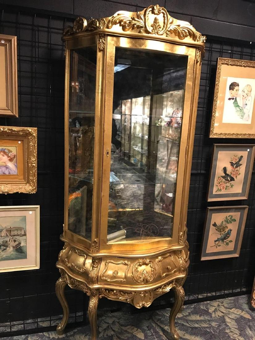 Reproduction French Curio Cabinet