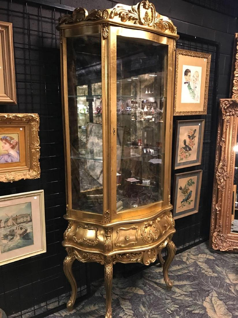 Reproduction French Curio Cabinet - 2