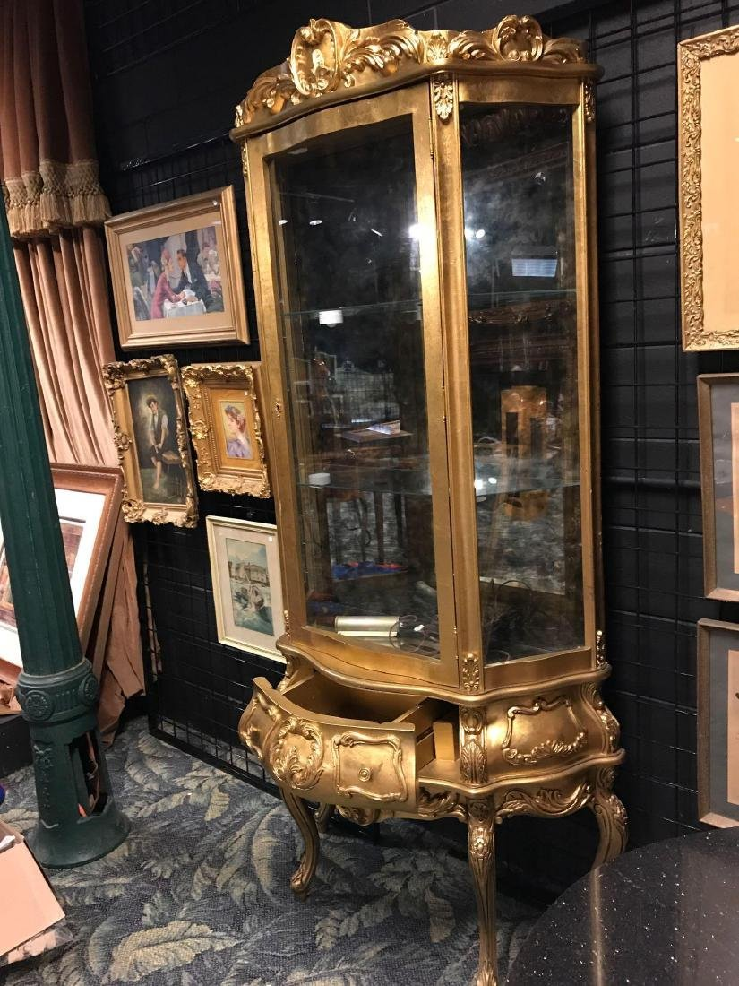 Reproduction French Curio Cabinet - 4