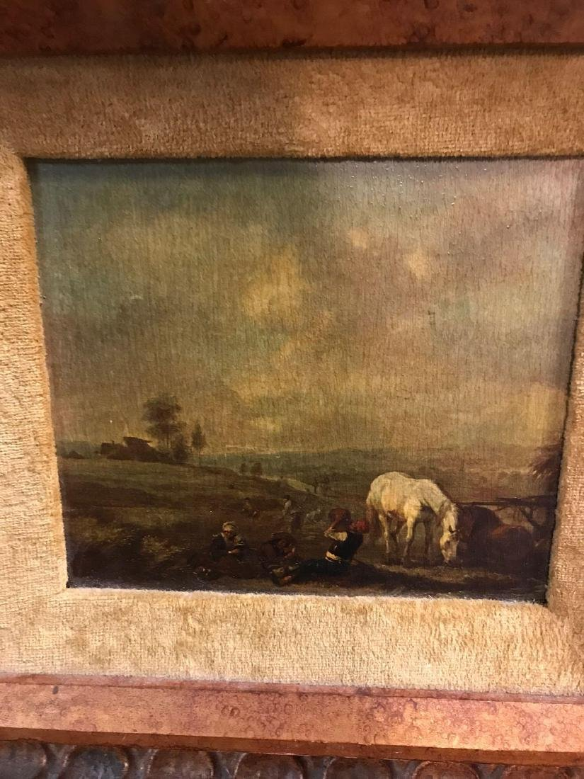 Set of  Two Oil Replica Rural Farm Life Paintings - 3