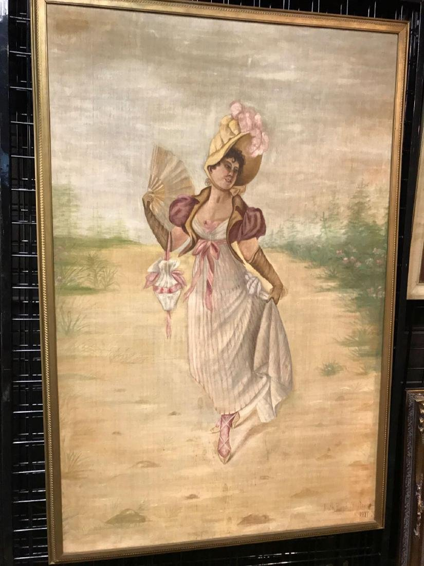 Vintage Painting of a Woman Signed by Ruth Boyd Whitake