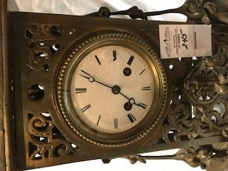 Antique French Louis XVI-Style Brass Mantle Clock - 4