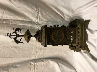 Antique French Louis XVI-Style Brass Mantle Clock - 8