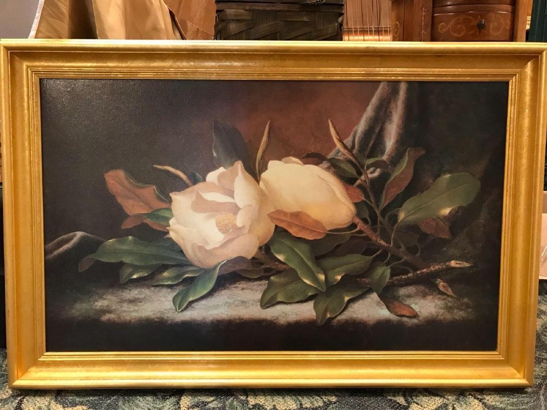 Oil on Canvas Magnolia Painting