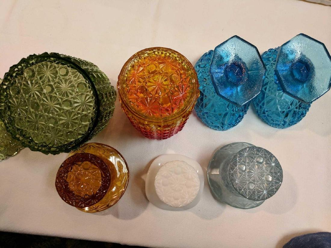 Lot of Pressed Colored Glass - 3