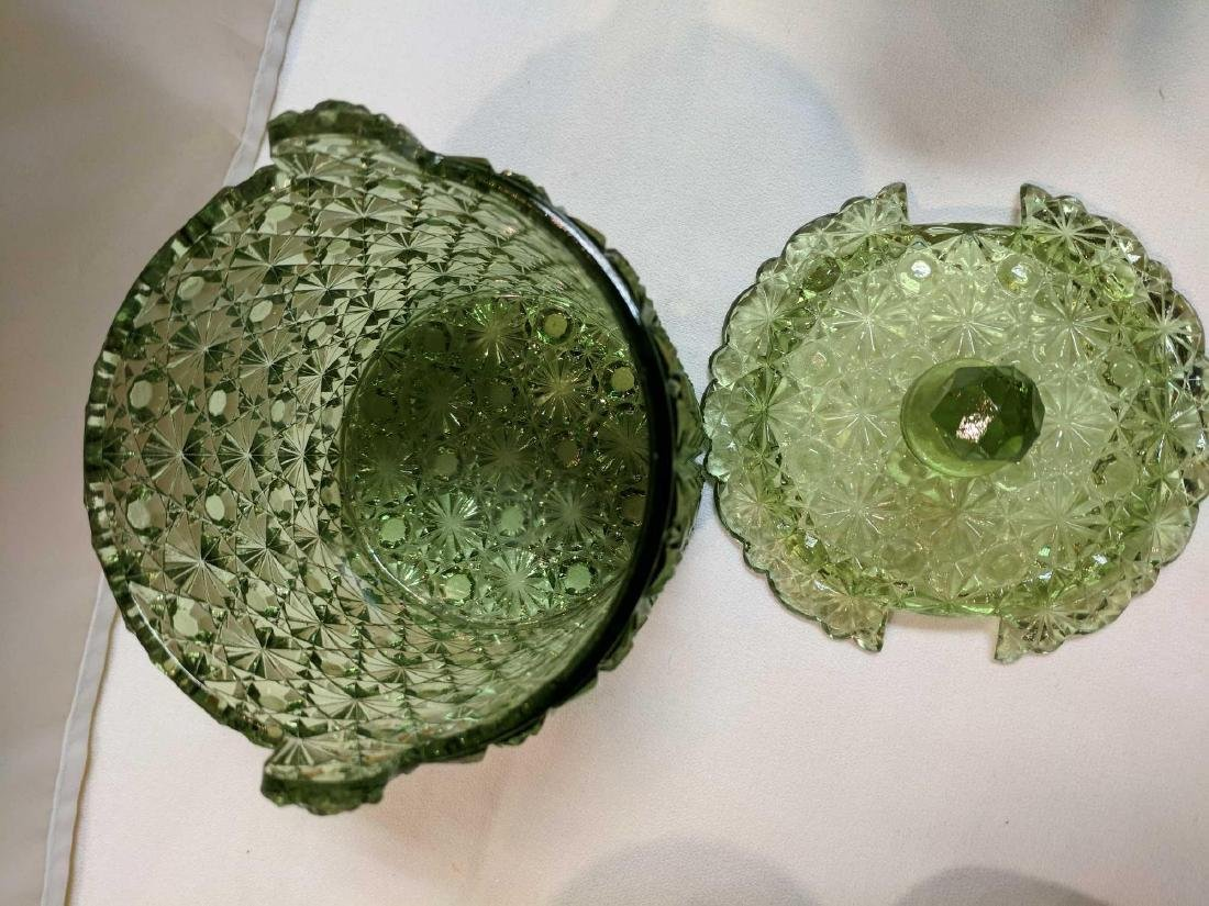 Lot of Pressed Colored Glass - 6