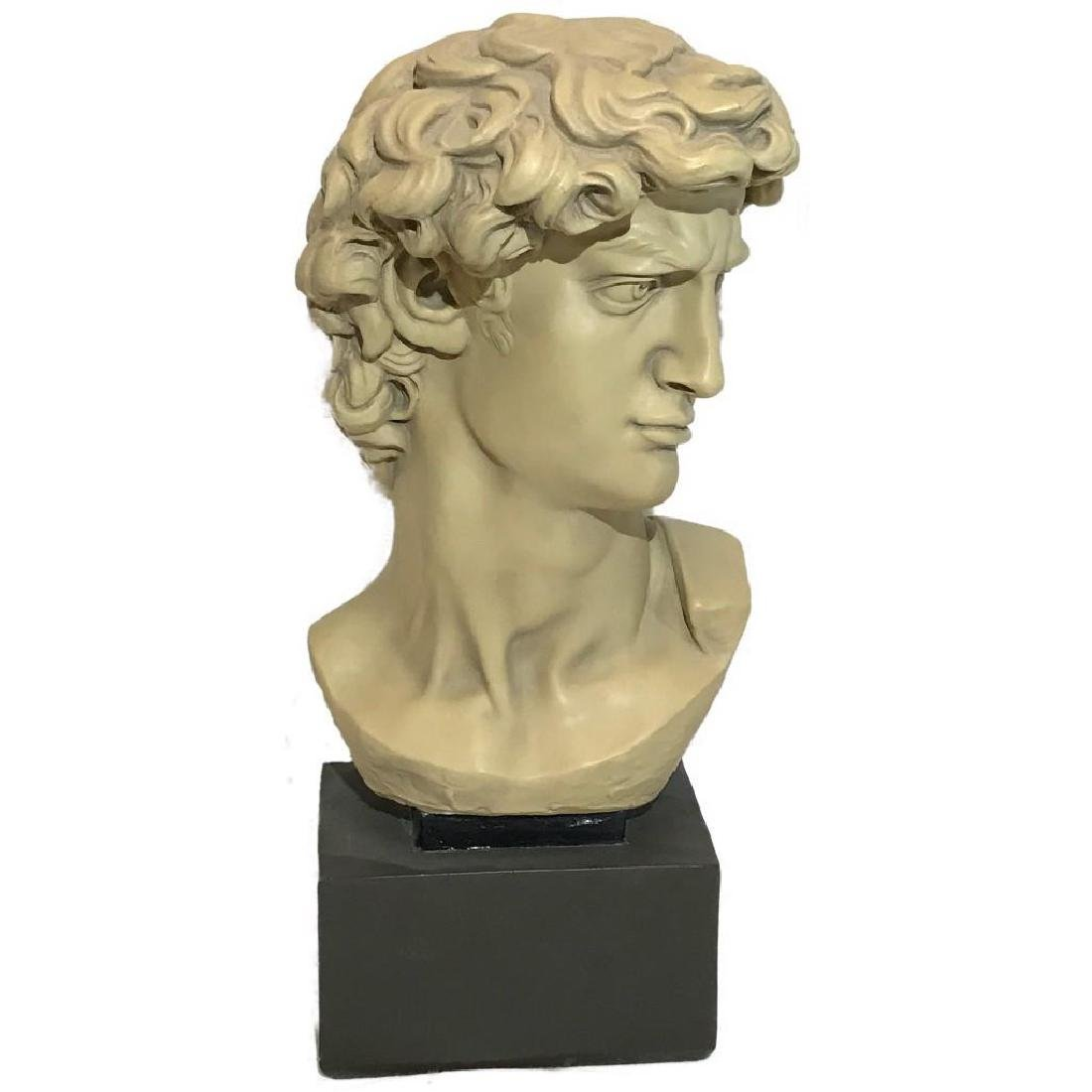 Faux Marble bust of Michelangelo's David