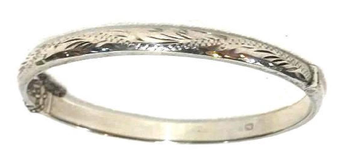 Sterling Silver Engraved Bangle bracelet 1959