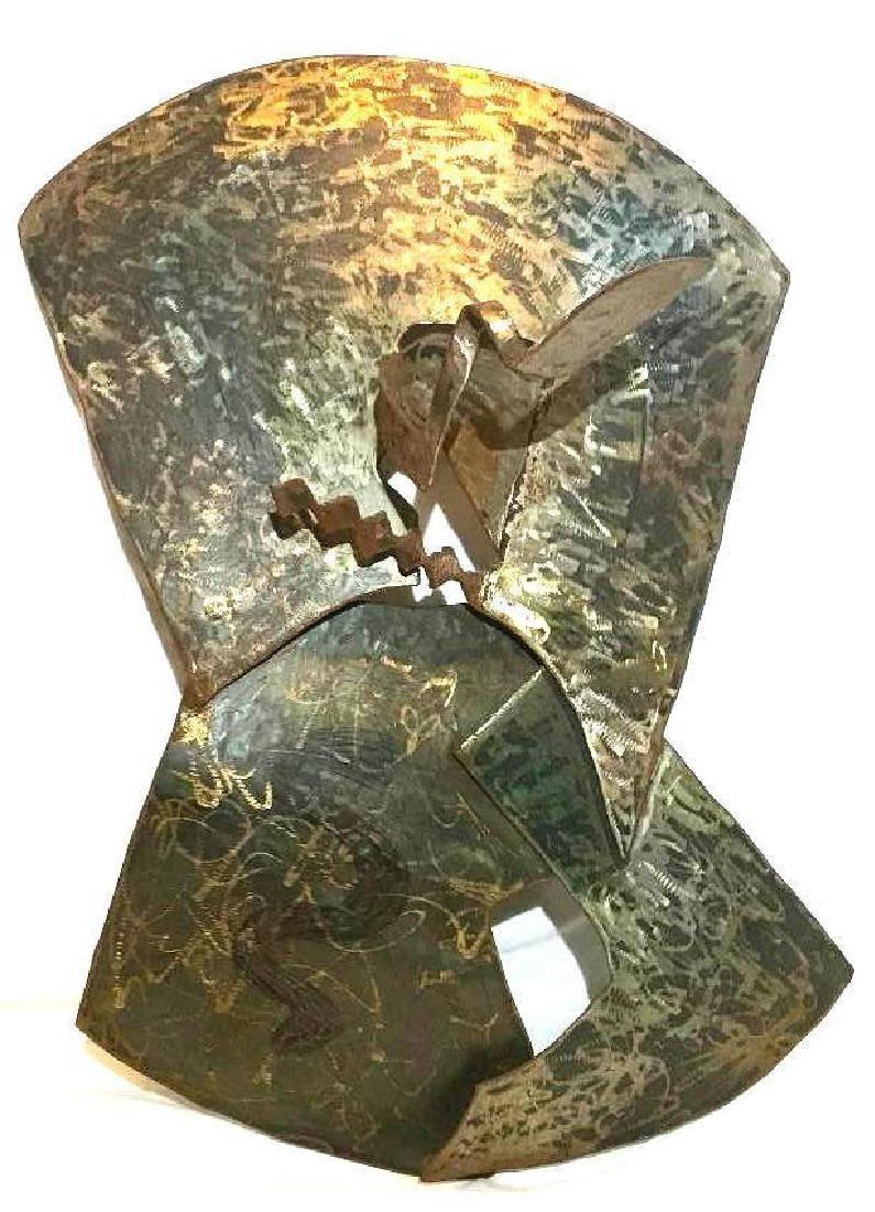 Nadine Delawrence-Maine Metal Sculpture, Named Otisa