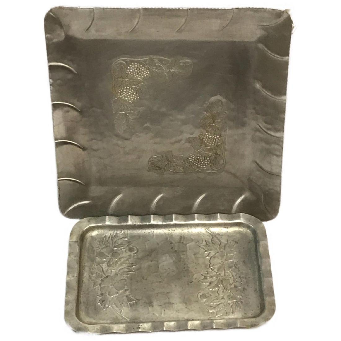 2 1950's Everlast Forged Aluminum Tray