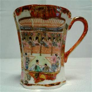 1 Bone China Coffee Cup Hand Painted By Chinese Artist