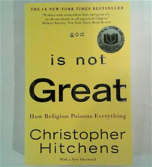 GOD IS NOT GREAT Signed by Christopher Hitchens