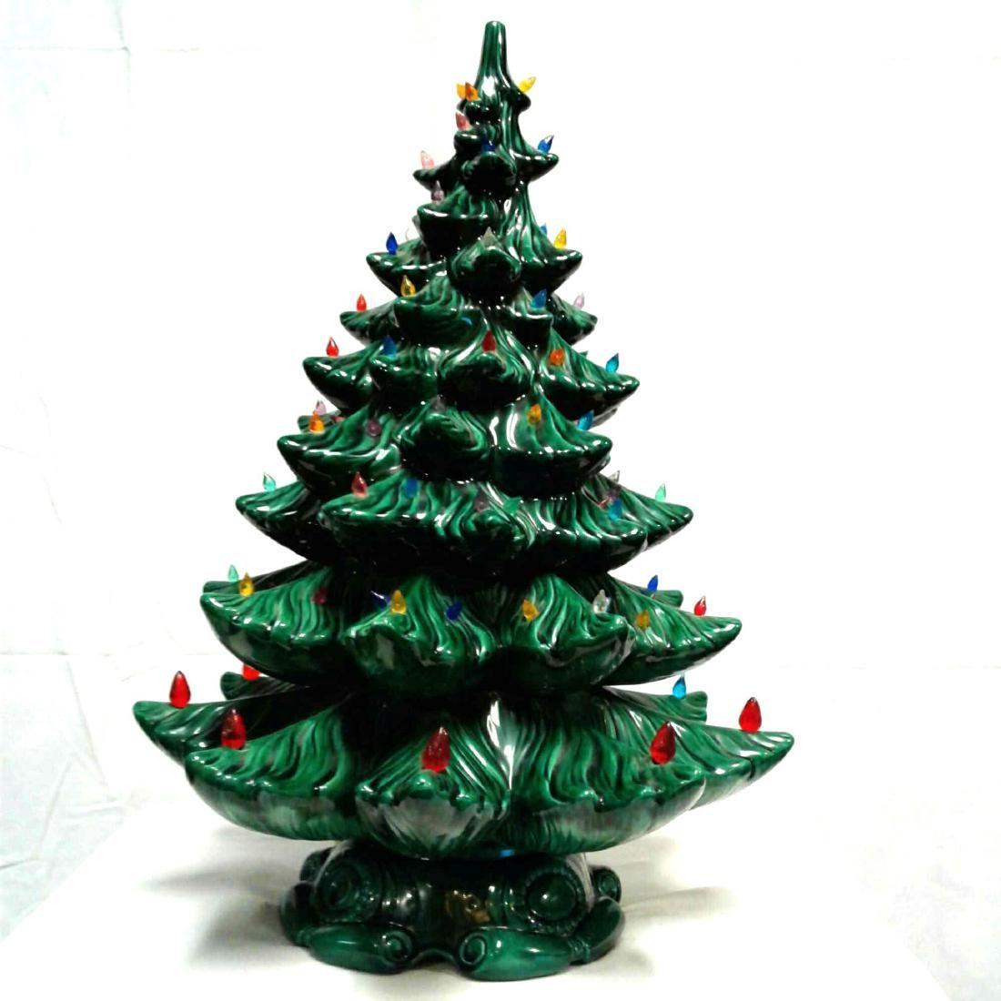 Vintage Ceramic Atlantic Mold Christmas Tree