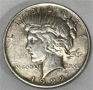 1922 Peace Dollar United States Coin